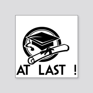 Hat Diploma -at last Sticker