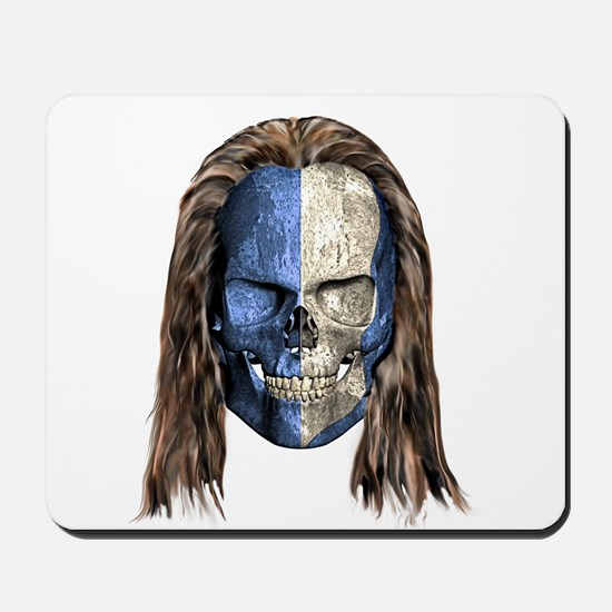 Braveheart Skull With Hair Mousepad