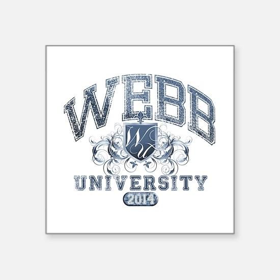 Webb Last Name University Class of 2014 Sticker
