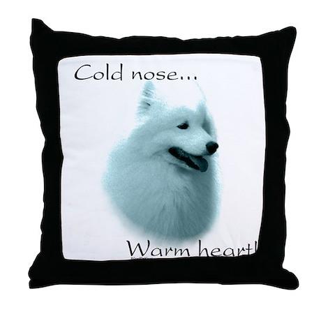 Samoyed Warm Heart Throw Pillow