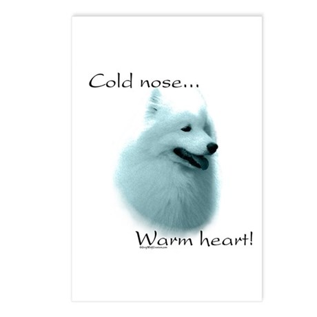 Samoyed Warm Heart Postcards (Package of 8)
