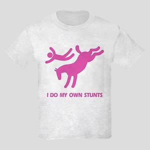 Pink Bucking Horse 'Stunts' Kids T-Shirt