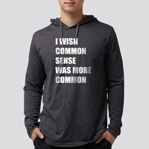 Common Sense Mens Hooded Shirt