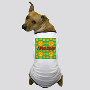 I Want Candy! Jack-o-lantern Dog T-Shirt