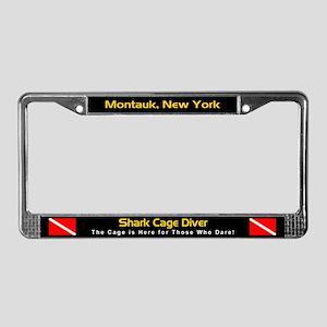 Montauk Shark Cage Diver, License Plate Frame