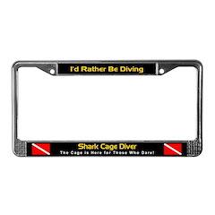 Shark Cage Diver, License Plate Frame