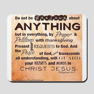 Philippians 4:6-7 Mousepad