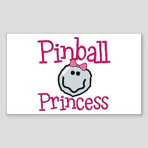 Pinball Princess Rectangle Sticker