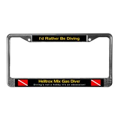 Helitrox Mixed Gas Diver, License Plate Frame