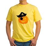 Pirate Jack o'Lantern Yellow T-Shirt