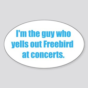 Freebird! Oval Sticker