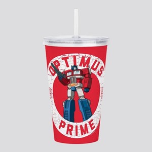 Optimus Prime Circle Acrylic Double-wall Tumbler