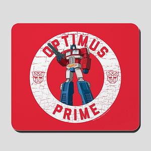 Optimus Prime Circle Mousepad