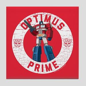 Optimus Prime Circle Tile Coaster