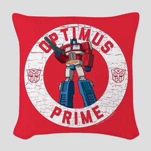Optimus Prime Circle Woven Throw Pillow