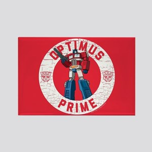Optimus Prime Circle Rectangle Magnet