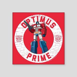 "Optimus Prime Circle Square Sticker 3"" x 3"""