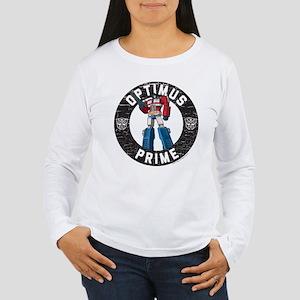 Optimus Prime Circle Women's Long Sleeve T-Shirt