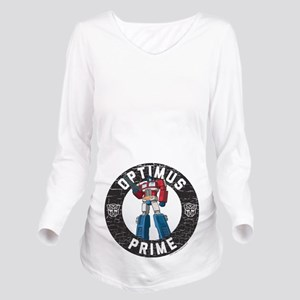 Optimus Prime Circle Long Sleeve Maternity T-Shirt