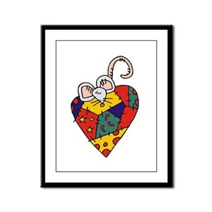 Holiday Mouse Framed Panel Print