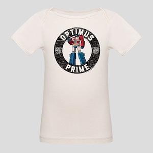 Optimus Prime Circle Organic Baby T-Shirt