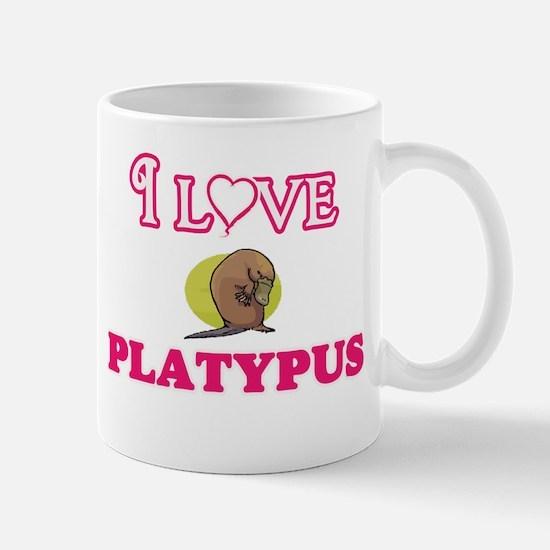 I Love Platypus Mugs