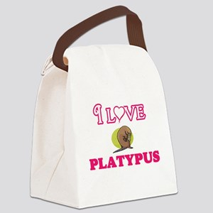 I Love Platypus Canvas Lunch Bag