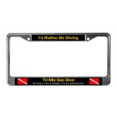 Tri-Mix Gas Diver, License Plate Frame