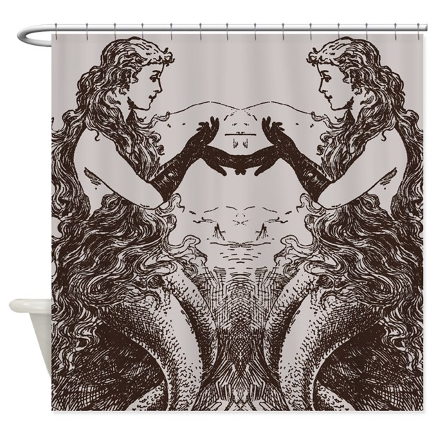 Vintage Mermaids Shower Curtain By Cheriverymery