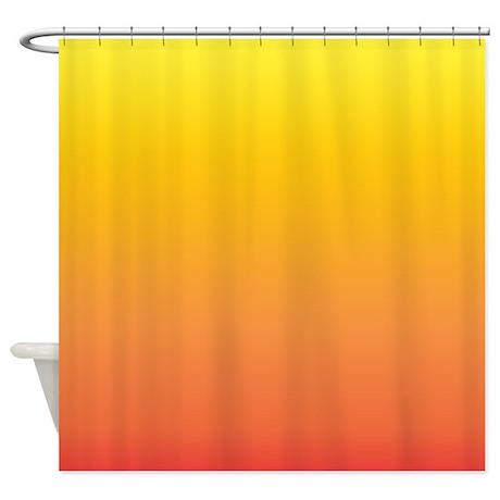Shades of Yellow/Orange Shower Curtain