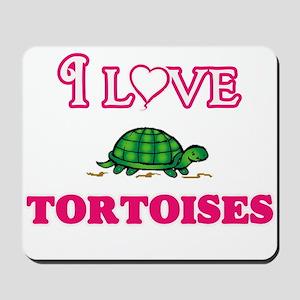 I Love Tortoises Mousepad