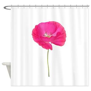 White Poppy Shower Curtains