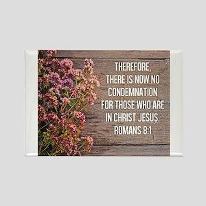 Romans 8:1 Rectangle Magnet