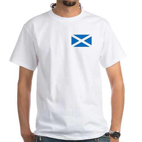 Scotland -St. Andrew's Cross White T-Shirt