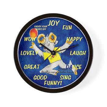 Cute Ram Cartoon Joy Wall Clock