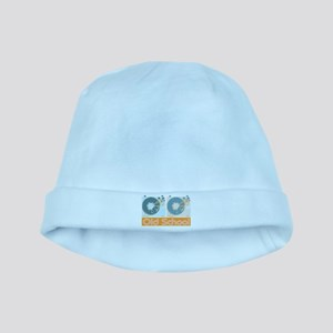 Old Shcool Turntables baby hat