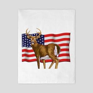 deerUSflag Twin Duvet