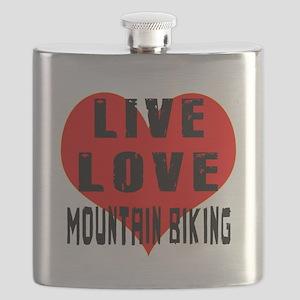 Live Love Mountain Biking Flask