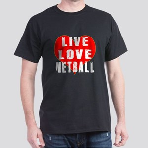 Live Love Netball Dark T-Shirt