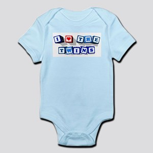 I LOVE THE TWINS Infant Bodysuit