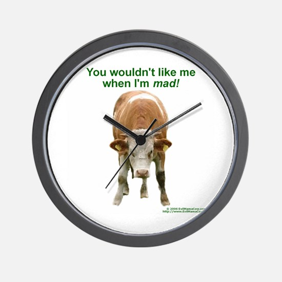 Mad Cow -  Wall Clock