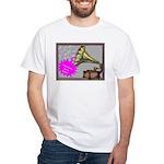 Garage Sale Music Logo White T-Shirt
