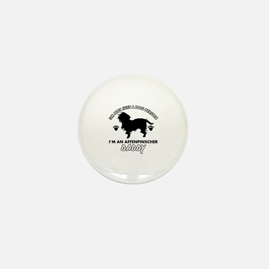 Affenpinscher Daddy designs Mini Button