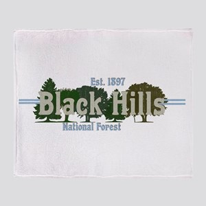 Vintage Black Hills National Forest Throw Blanket