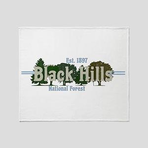 Vintage Black Hills National Forest Throw Blanket