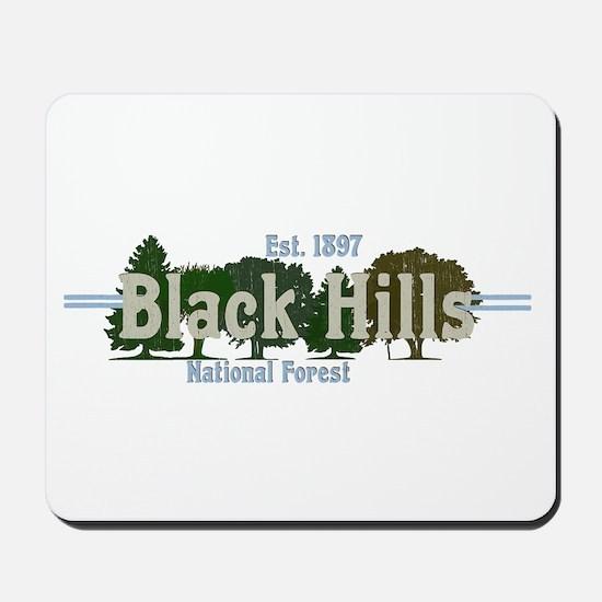 Vintage Black Hills National Forest Tree Mousepad