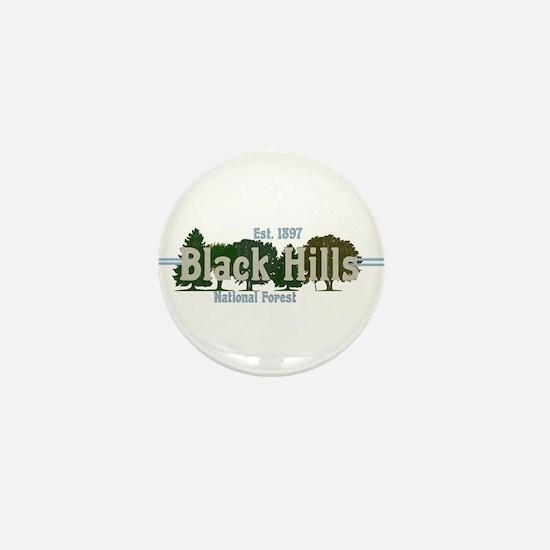 Vintage Black Hills National Forest Tr Mini Button