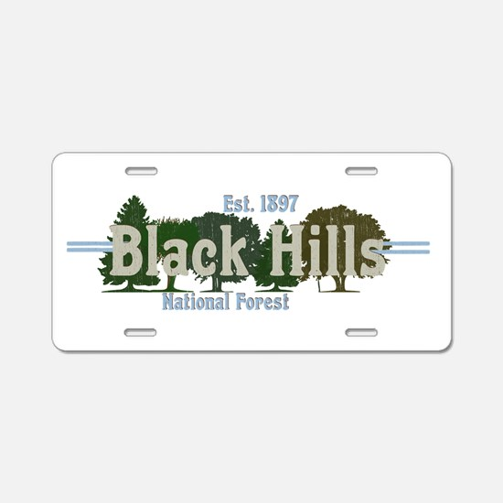 Vintage Black Hills Nationa Aluminum License Plate