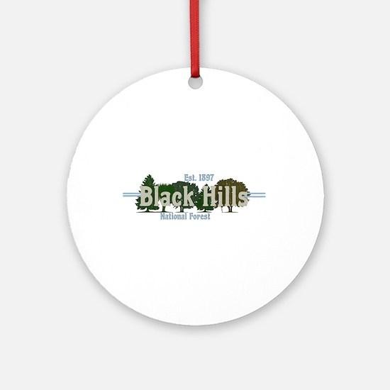 Vintage Black Hills National Forest Round Ornament