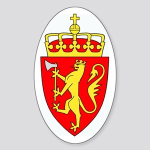 Royal Coat of Arms of Norway Oval Sticker